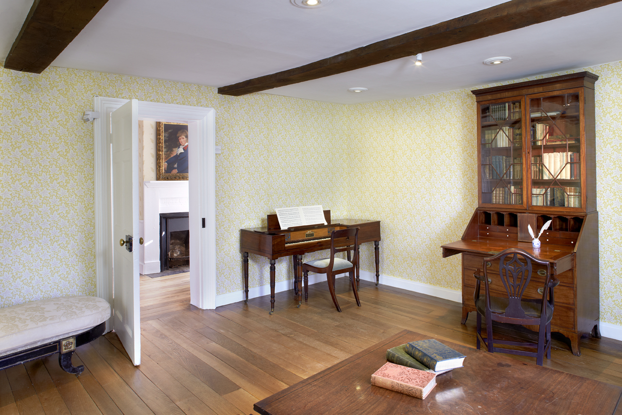 The drawing room inside Jane Austen's house
